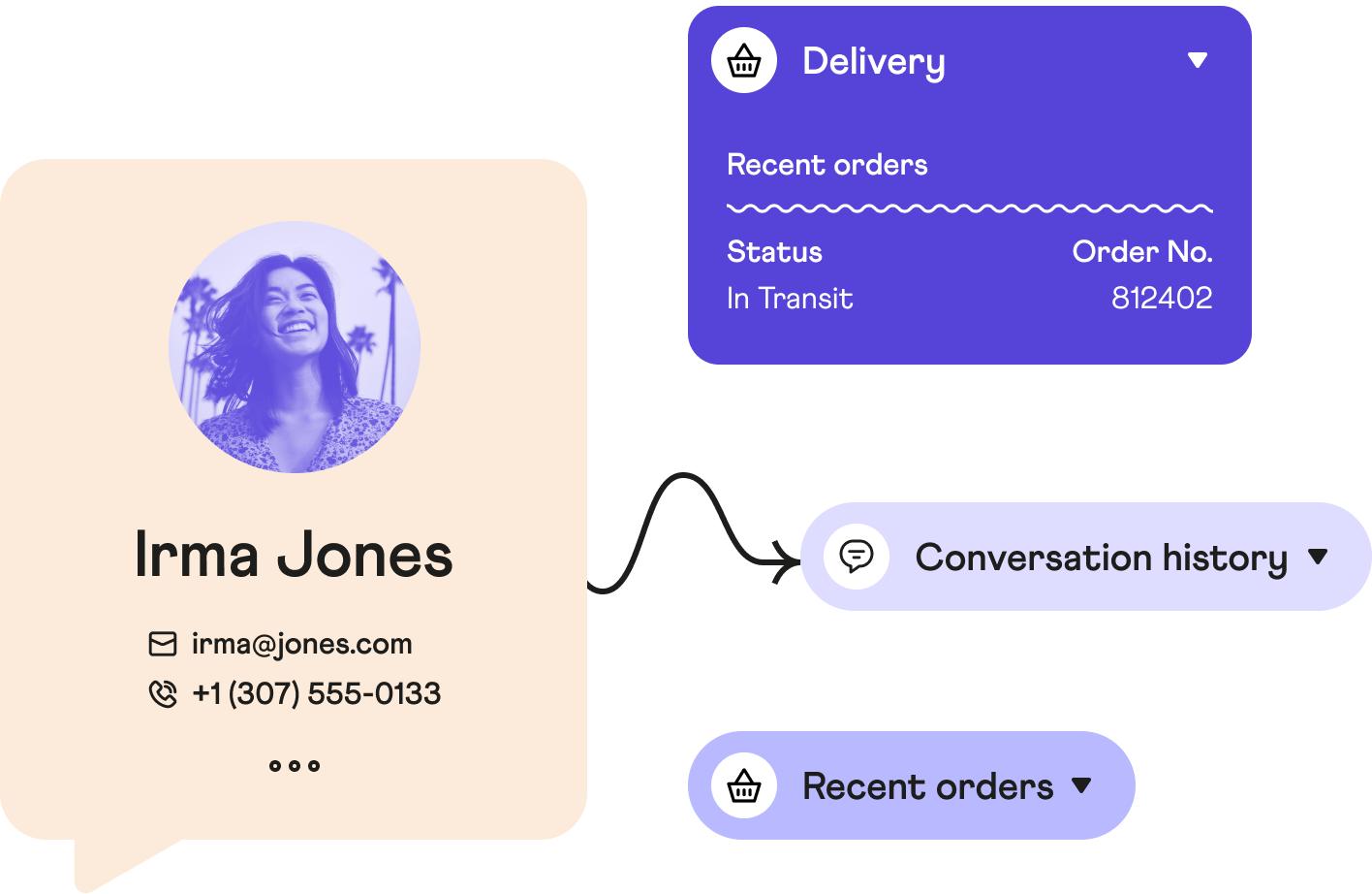 Customer Data in Dixa Customer Service Platform