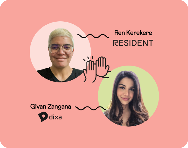 Headshots of Ren from Resident & Givan from Dixa